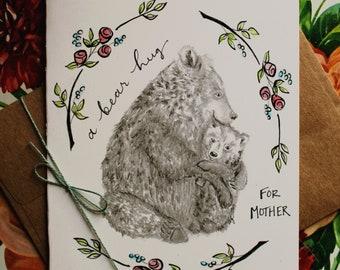Mama Bear Hug Mother's Day Card Set of Four (4)