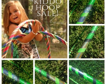 """SaLE! 'GREEN LIGHTNING' Budget Hoop! 31""""- 1/2"""" Collapsible PE. Kiddo -Or- Advanced Hoopers. Ready to SHiP & 20% Off!"""