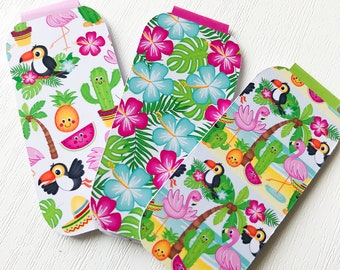 Summer Toucan Set of 3 Magnetic Bookmarks or Planner Page Keeper. Page Minder.