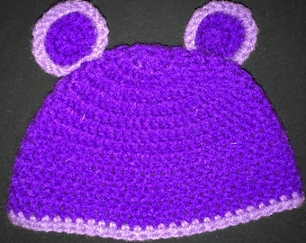 Toddler purple hat with ears