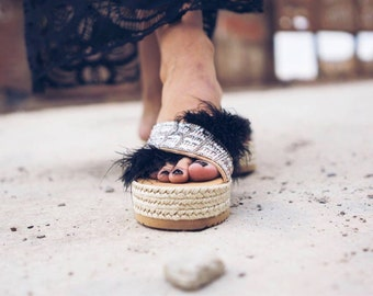 Greek sandals/espadrilles/wedges/crystals sandals/sparkly sandals/strappy/women's sandals/leather sandals