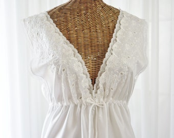 Barbizon Boutique Bridal White Nightgown New Old Stock Tags Attached Large