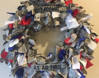 Air Force uniform wreath, military wreath