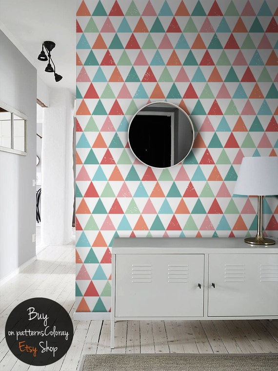 papier peint g om trique formes r guli res murale simple. Black Bedroom Furniture Sets. Home Design Ideas