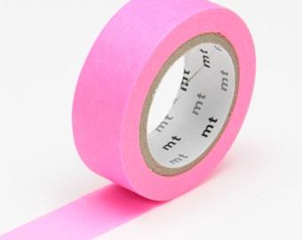Neon Pink Washi Tape • MT Masking Tape Washi Tape • Neon Washi Tape • Washi Tape UK • Japanese stationery • Shocking Pink