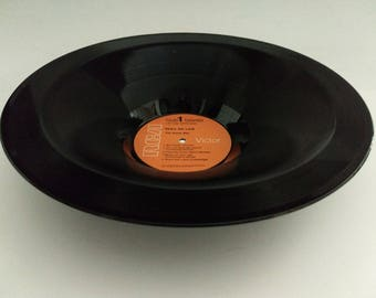 "Guess Who Smooth Vinyl Record Bowl Hand Made from Upcycled Record ""Share the Land"""