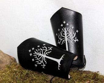 White tree of Gondor, leather bracer, armor leather
