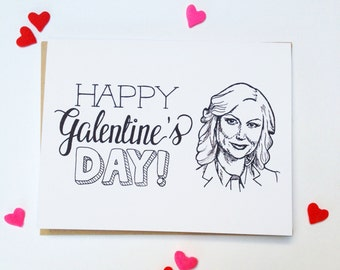 Happy GALENTINES Day - Hand Lettered Greeting Card