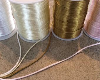 10 ft 2mm satin cord jewelry making macrame rattail supplies