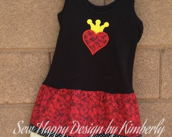 Queen of Hearts Inspired Tank Top Dress various sizes available