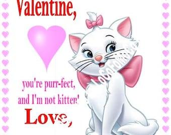 Kitty Valentine's card printables