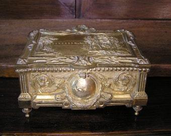 Antique French Gilded Bronze Trinket Box