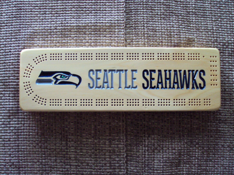 Rustic Cribbage Board Seattle Seahawks Football Furniture