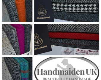 GREY HERRINGBONE RANGE Harris Tweed Fabric Bundles 100% Pure Virgin Wool