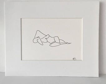 G morning- ink drawing