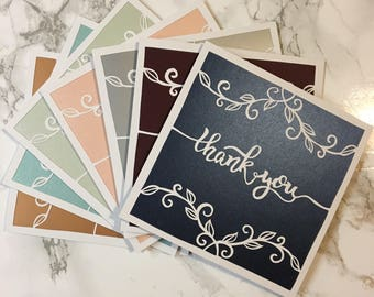 Thank you card vines and swirls