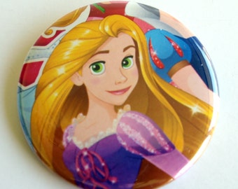 10 Upcycled Disney Princess Button - Princess Party Favor - Princess Birthday Party - Princess Rapunzil Favor - Princess Rapunzil Party