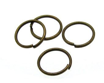 100 Antique Bronze Open Jump Rings 8mm x .8mm (20 Gauge)  -- Lead, Nickel, & Cadmium free 8/.8-1