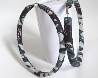 LIGHT Extra Large Hoop African Ankara Fabric Covered Earrings. 5 inches x 5 inches
