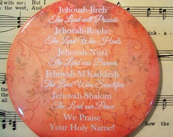 Names of Jehovah Magnet, Jehovah-Jireh, Jehovah-Rophe, Jehovah-Nissi...Religious Magnet, Praise Magnet