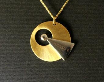 Star Trek IDIC necklace, trekkies jewelry, sci-fi jewelry, Live Long and prosper handmade sterling silver