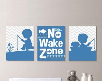 Baby Boy Nursery Art. Boy Nursery Decor. Fish Print. Fish Nursery Art. Boy Bedroom Art. Boy Bedroom Decor. Fishing Bedroom Art. (NS-635)