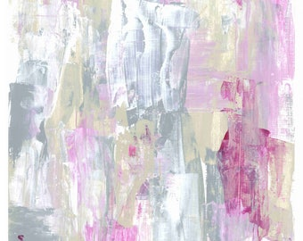 Abstract Art Print: Pink Vanilla