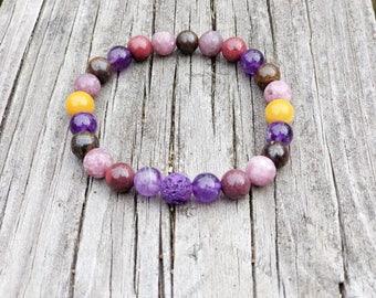 Anxiety Gemstone Bracelet. Calming Bracelet. Calming Gemstones. Anxiety Healing Bracelet. Jewelry For Anxiety. Anxiety Crystals.