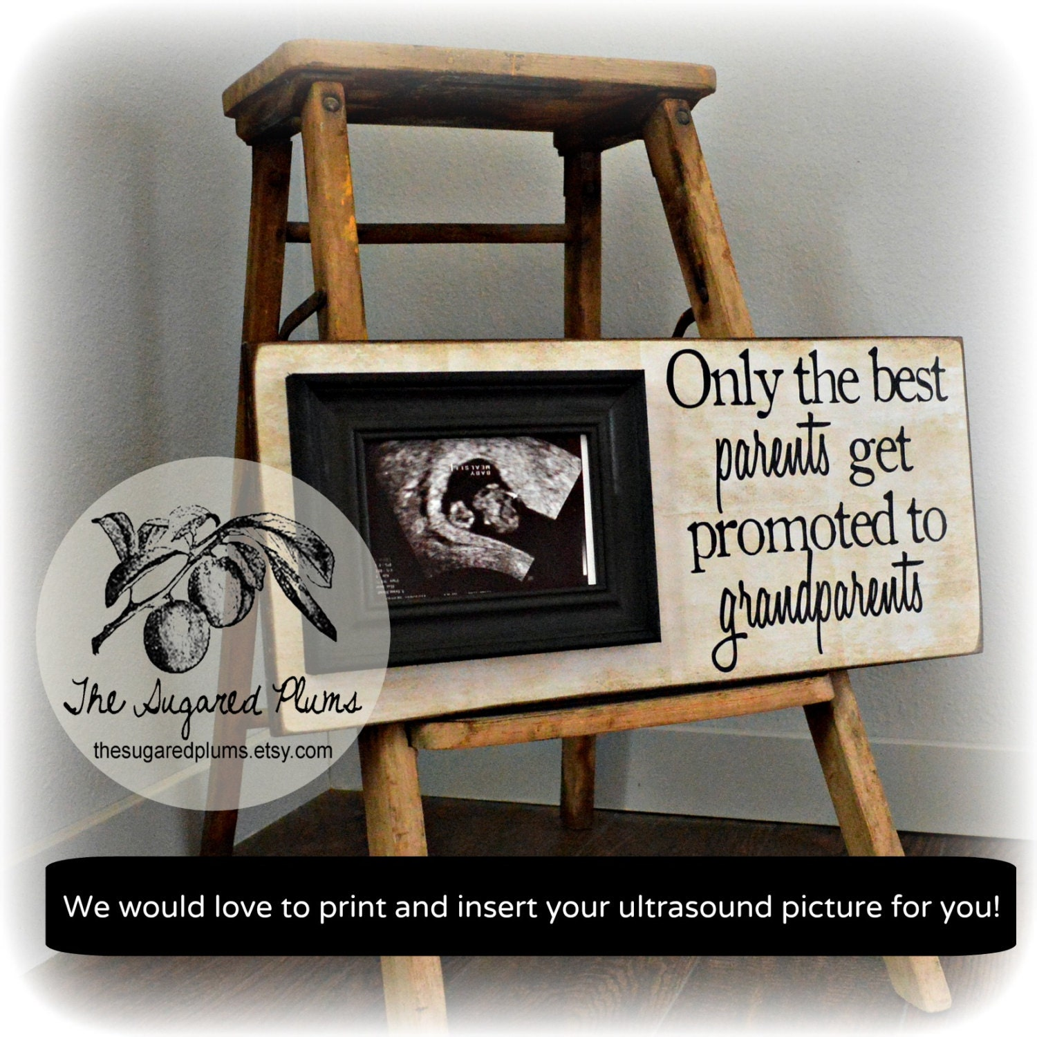 Pregnancy expecting announcement for grandparents ultrasound gift pregnancy expecting announcement for grandparents ultrasound gift picture frame grandparents gift expecting baby 8x20 the sugared plums from negle Images