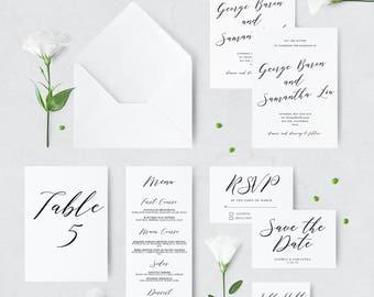 Modern Printable Wedding Invitation