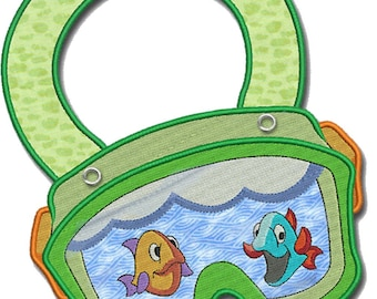 Bib for Baby, Children, Toddler personalized included in the price Organic Cotton Made in Europe (Diving Glass)