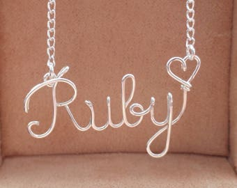 Name Necklace Personalised Any Name Handmade, Gift for Her Kolezi Bros London
