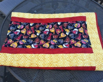 Fireman Quilted Blanket, Firefighter Baby Blanket, Fireman Quilt, Firefighter Blanket, Baby Boy Blanket