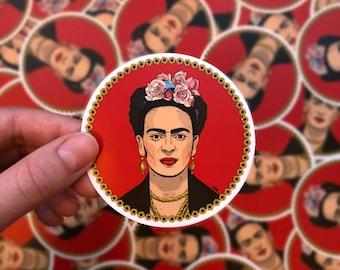 Frida Kahlo Sticker, Frida Sticker, Frida Kahlo art, Frida art, Sticker, Sticker art, Frida Kahlo, Frida illustration