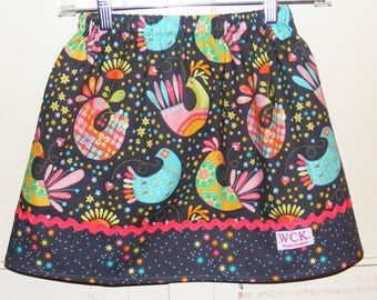 Michael Miller Birds and the Bees skirt   (18 mos, 24 mos,   2T, 3T, 4T, 5, 6, 7, 8, 10)