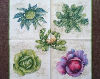 PN - 113.  Vegetables The price is for one napkin Paper Napkins Sprouts Summer Napkins Paper Napkins for decoupage