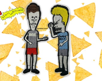 Beavis and Butthead Cartoon Embroidered Iron on Patch - SET