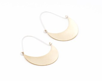 The Small Crescent Moon Hoops