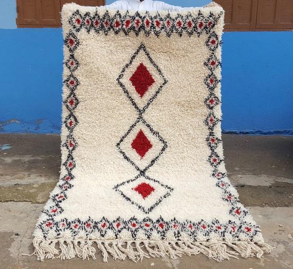 Beni Ourain Rug Handmade Moroccan Rug 100% Wool Rug 78 / 45
