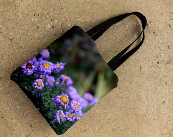 photography tote bag, flower tote, art bag, flowers market bag