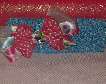 Whimsical Colors and Dots Girls Headband