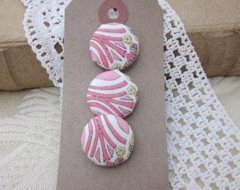 Mauverine Pink Liberty of London Print Buttons