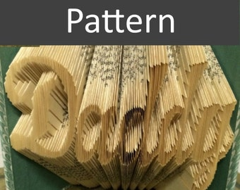 Daddy - Folded Book Pattern