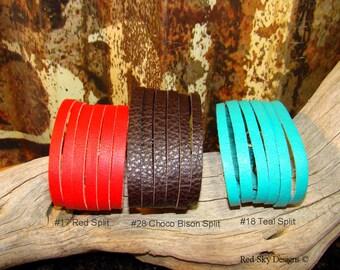 Leather Shredded Bracelets Cuff Leather Split Bracelet Cuffs Split Leather Supply Leather Cuff Bracelets Shredded Leather Blank Supply Cuffs