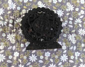 Vintage Cast Metal Decorative Napkin Mail Holder