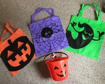 Personalized Halloween bags/bucket