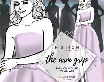 The Arm Grip    Fashion Template, Fashion Illustration, Croquis, Fashion drawing
