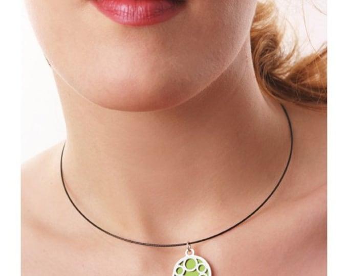 Medium Round Lime Bubble pendant