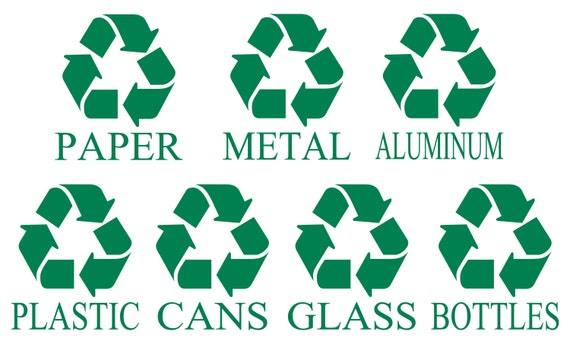 Recycle Symbol Recycle Sign Decal Recycle Sticker Trash