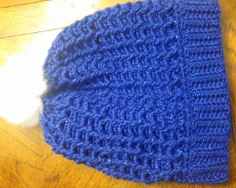 Doctor Who TARDIS blue slouchy beanie
